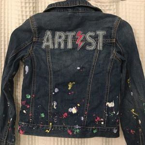 Gap Girls Artist Jean Jacket M